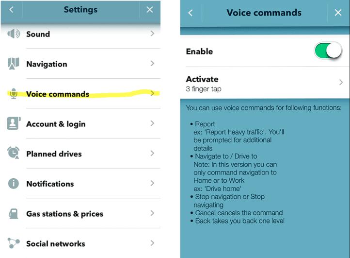 Waze Voice Commands