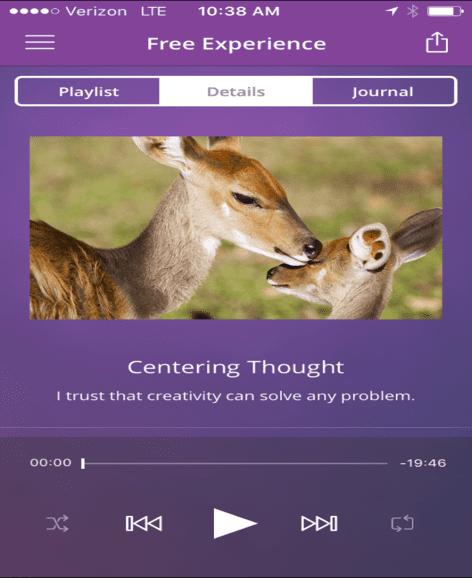 Chopra Center App Screenshot