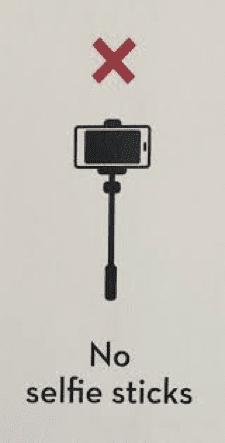 No Selfie Sticks
