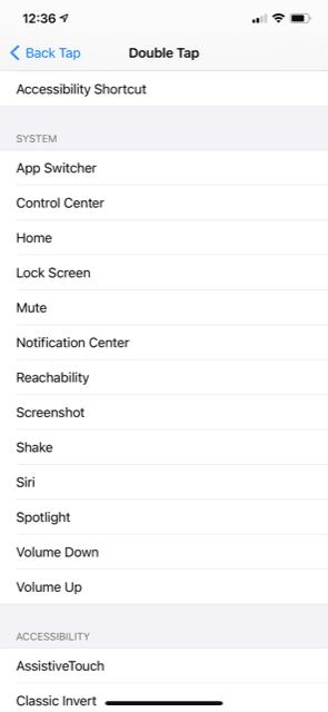 iOS settings screenshot